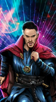 Never had the mystical world had a great guardian like the Doctor. Time and space come together in one way. And unraveling its mysteries is fundamental. Comic Book Characters, Marvel Characters, Comic Books, Fictional Characters, Mystical World, Marvel Universe, Universe Art, Doctor Strange, Aquaman