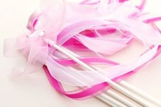 ribbon wand {we did something like this for my kiddos project a few weeks ago} cute for a princess party!