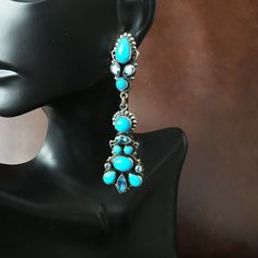 New haul in at toqos.com :) Turquoise lovers click to see Elegant Gala Earr...: http://toqos.com/products/elegant-gala-earrings-blue-topaz-and-sleeping-beauty-handmade-by-leo-feeney?utm_campaign=social_autopilot&utm_source=pin&utm_medium=pin