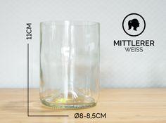 Gläser - MITTLERER / Ø 8-8,5CM / WEISS (Glas / Becher) - ein Designerstück von Glaeserne_Transparenz bei DaWanda