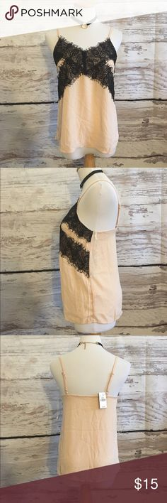 NWT lace nude camisole top New with tags size small Tops Camisoles