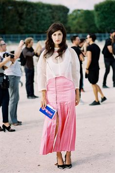 Valentina Siragusa of Factory Style blog, Tuileries, Paris, September 2014.