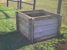 Wood compost bin DIY