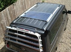 VW T5 solar panel drill-free kit