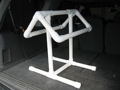 PVC Saddle Rack - PetDIYs.com