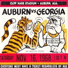 Row One Brand Auburn Tigers drink coasters, vintage ticket coasters, Auburn Tigers gift ideas, Best Father's Day Gifts 2015, Auburn Father's Day Gifts #Auburn #Tigers #Row1