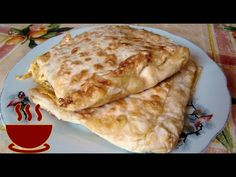 Pita bread with cheese and green onion in a frying pan - simple and incredibly delicious Pita Bread, Cheese Bread, Green Onions, Food To Make, Fries, Cooking Recipes, Snacks, Ethnic Recipes, Youtube