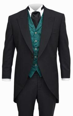 Victorian Cutaway Coat - Black