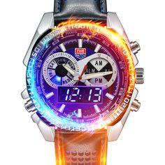 $38.67 (Buy here: https://alitems.com/g/1e8d114494ebda23ff8b16525dc3e8/?i=5&ulp=https%3A%2F%2Fwww.aliexpress.com%2Fitem%2FHot-Selling-Brand-TVG-Men-Full-Steel-Watches-LED-Digital-Quartz-Chronograph-Watch-Waterproof-Dive-Sports%2F32658420861.html ) 2016 Hot Sale TVG clock Men Watch Male Watches Quartz Watch Wrist for Men Analog Digital Dual Display watch Relogio Masculino for just $38.67