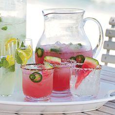 Watermelon-Jalapeno Margarita - Beach Cocktails for a Crowd - Coastal Living