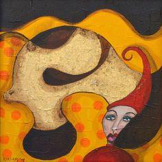 Sleepyhead   Painting   Acrylic paint   Mixed Media Art   Art   Bloknote.nl   Blognotes by Marieke Blokland