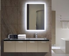 TYPE: Backlit Mirror SHAPE: Rectangle SIZE: 20 x 28 x 2 Available 10 th August Pre Order Now DESCRIPTION - Dimmable on a wall switch dimmer - 3600 Lumens CRI 90+ - 110 V wiring - Approx 120,000 Hours