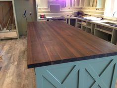 Custom Made Walnut Butcher Block Island Top By Mccluretables Madeinmichigan Madeinamerica