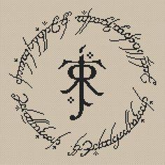 J. R. R. Tolkien logo cross stitch pattern | Craftsy