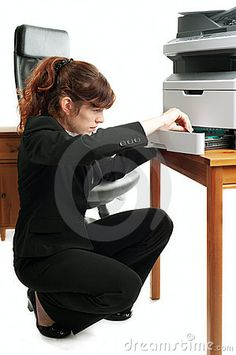 Photo about Pretty business lady or student loading printer. Image of beautiful, copier, manager - 16301412 Business Lady, Business Women, Wireless Printer, Photography Business, Student, Stock Photos, Pretty, Beautiful, Fotografie