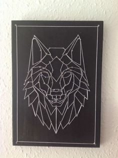 Embroidery On Paper Wolf string art String Art Templates, String Art Patterns, Doily Patterns, Dress Patterns, Paper Embroidery, Learn Embroidery, Japanese Embroidery, Flower Embroidery, Embroidered Flowers