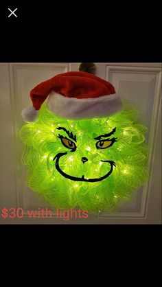 Grinch Christmas Wreath DIY - DIY Grinch Decorations and Christmas Ornaments - Salvabrani Grinch Christmas Decorations Outdoor, Grinch Decorations, Grinch Christmas Party, Christmas Mesh Wreaths, Christmas Diy, Christmas Quotes, Christmas Pictures, Christmas Snowman, Le Grinch