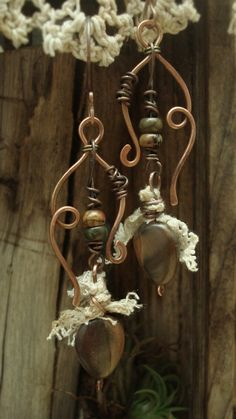 Forest Offerings  Mixed Media Earrings by AlteredAlchemy on Etsy, $46.00