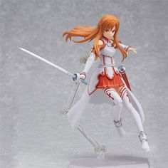 Not Sold In Stores - Very Exclusive Product! This is a Limited Time Offer: 35% OFF + FREE SHIPPING Asuna Yuuki Figma from the popular anime show Sword Art Online. This is the complete package - It com
