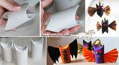 Crafts For Teens Halloween Crafts For Kids Teen Crafts Samhain Cardboard Tube Crafts Upcycled Crafts Toilet Paper Roll Bat Rolls School