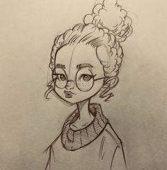 52 New ideas drawing ideas doodles sketchbooks – Zeichnung , Kritzeleien und mehr Pencil Art Drawings, Art Drawings Sketches, Cartoon Drawings, Cute Drawings, Cute People Drawings, Cartoon Kunst, Cartoon Art, Character Drawing, Character Sketches