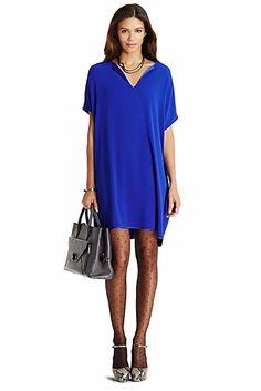 DVF Kora Tunic Dress In Cosmic Cobalt