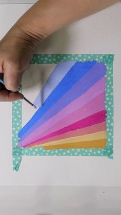 Learn all about painting with beautiful acryla gouache paint with gradients, patterns and abstraction through my free resource! art videos Gouache Stripes by Josie Lewis Simple Canvas Paintings, Easy Canvas Art, Small Canvas Art, Mini Canvas Art, Cute Paintings, Diy Canvas, Canvas Painting Kids, College Canvas Paintings, Acrylic Art Paintings