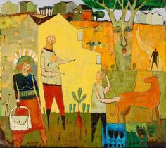 "jane filer | Jane Filer Painting ""The Home Front"""