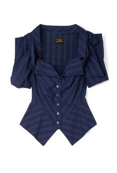 Blue Poppy Structured Blouse by Vivienne Westwood Anglomania