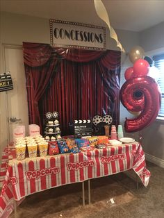 Birthday Decoration Ideas at Home Unique Oakley S Home theater Party Oakleys Bda. Birthday Decoration Ideas at Home Unique Oakley S Home theater Party Oakleys Bda Backyard Movie Party, Backyard Birthday Parties, Birthday Party At Home, Sleepover Birthday Parties, Birthday Bbq, Birthday Party Themes, Backyard Bbq, 13th Birthday, Birthday Party Ideas For Teens