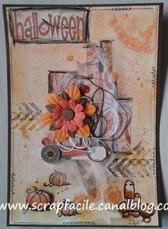 champignons et courges carte Mail Art, Scrap, Photos, Gourds, Scrap Material, Cake Smash Pictures