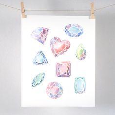 Gemstones Art Print