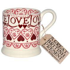 Bridgewater Pottery, Porcelain & Glass Emma Bridgewater Christmas Joy Sampler Half Pint Mug New Choice Materials