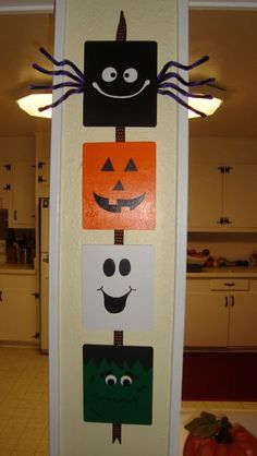 Picture of halloween wall decor, hand painted.