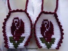 YouTube Crochet Bows Free Pattern, Tunisian Crochet Patterns, Crochet Slipper Pattern, Crochet Motif, Baby Knitting Patterns, Crochet Shawl, Knit Crochet, Easy Crochet Slippers, Crochet Socks
