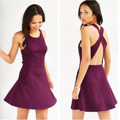 ❗️LAST CHANCE Urban Outfitters Plum Skater Dress Urban Outfitters label Silence+Noise Plum colored cross-back textured knit dress. This is a soft stretchy short dress with a pull-on silhouette. NWT and retails $59! Size large. Thick shoulder straps that cross at back w/ 2 side pockets. Soft polyester material. Everything in my closet is 30% off if bundled! Reasonable offers are also welcome so feel free to make offers! Huge End of the Year Sale! Urban Outfitters Dresses