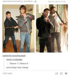 No matter how much time passes, they're still just oversized adorable kids with guns and knives.
