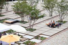 Zollhallen Plaza in Freiburg (Germany). By Atelier Dreiseitl.