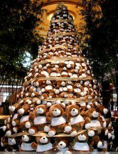 26 Árboles de Navidad Diferentes - Árbol de Navidad con ositos de peluche