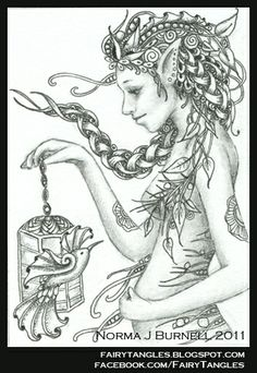1000 Images About Zentangle Fairy On Pinterest