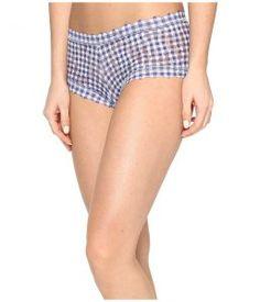 Hanky Panky Check Please Boyshorts (Navy/White) Women's Underwear