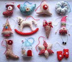 шьем елочные игрушки из ткани