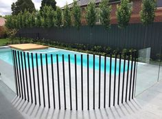 Small Backyard Pools, Backyard Pool Landscaping, Small Pools, Pool Fence, Swimming Pools Backyard, Swimming Pool Designs, Modern Landscaping, Pool Remodel, Natural Swimming Pools