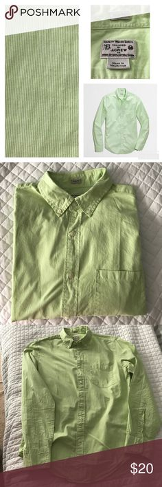J. Crew Factory Slim Fit Microstripe Button Down Gently used, excellent condition with no stains, holes or rips! All of my items come from a clean, smoke-free home! Please look over the photos and let me know if you have any questions! Check my closet for more items and save when you bundle! J. Crew Factory Shirts Casual Button Down Shirts