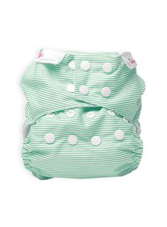Pumpkin Patch - changing time - bambooty easy one size modern cloth nappy green stripes - P1BS10131 - multi - osfa