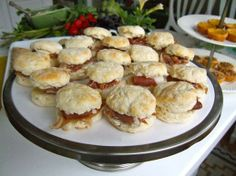 Country Ham Biscuits. ☀CQ #southern #recipe