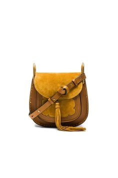 CHLOÉ Small Suede Patchwork Hudson Bag. #chloé #bags #shoulder bags #lining #suede #