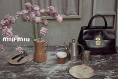 """taking inspiration from the iconic film """"red desert"""", michelangelo antonioni's first color film released in 1964, shona creates another stunning set for her first miu miu campaign, shot by inez & vinoodh and styled by olivier rizzo"""