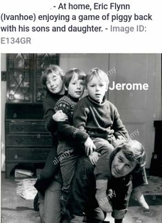 Jerome as a child. with his siblings riding their dad's back 😍😍😍so adorable! Jerome Flynn, Crocodile Dundee, Siblings, Blue Eyes, Acting, Dads, British, Tv, My Love