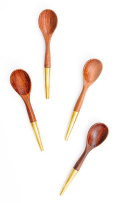 Brass Tipped Spice Spoon Set $38 (set of 4)